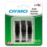 3 Count Black Dymo Label Refill (Set of 5)